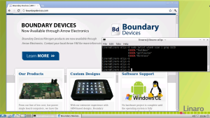 Screen shot running Chromium and iwlist