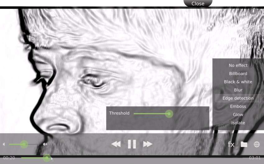 High def video with GPU accelerated edge-detection