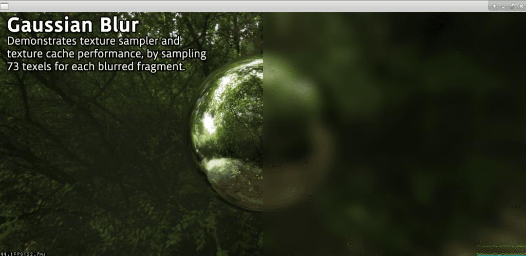 IMX GPU SDK 4.0.2 Gaussian Blur demo Ubuntu Bionic