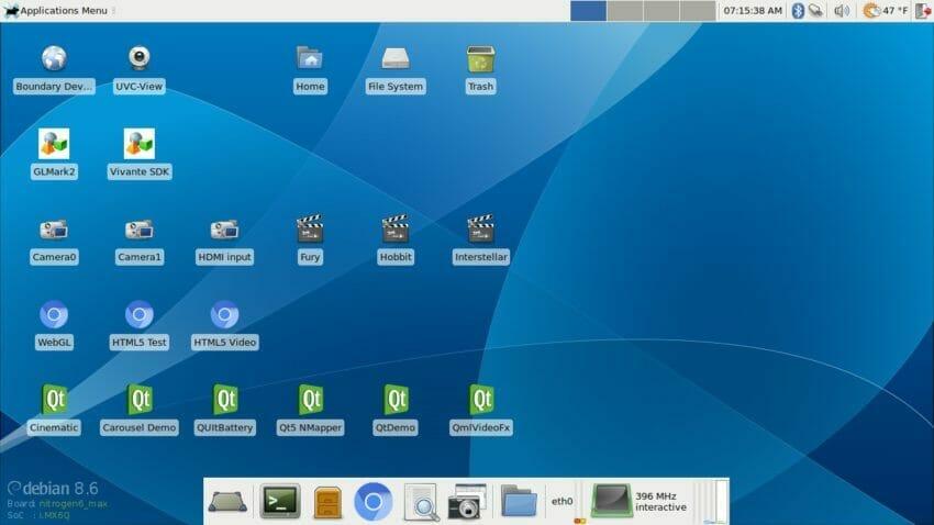 Debian Jessie 8.6 - XFCE4 desktop